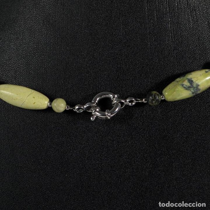 Joyeria: Juego collar 59cm. y pendientes piedra y plata - Foto 2 - 114966119
