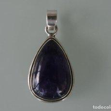 Jewelry - COLGANTE CON PIEDRA NATURAL CABUJON AMATISTA MONTADO EN PLATA DE LEY DE 925 CON CONTRASTE A ESTRENAR - 115474651