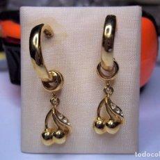 Schmuck - Vintage. Bonitos pendientes de señora. Chapados en oro. Años 80. Nuevos. ENVIO GRATIS. - 116280003