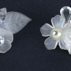 Schmuck - Pendientes bisuteria plástico, metal plateado y pedrería decoración floral - 118186755