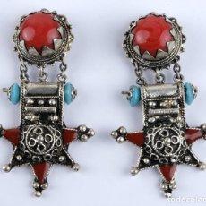 Schmuck - Pendientes estilo colonial en metal con pedreria - 118386595