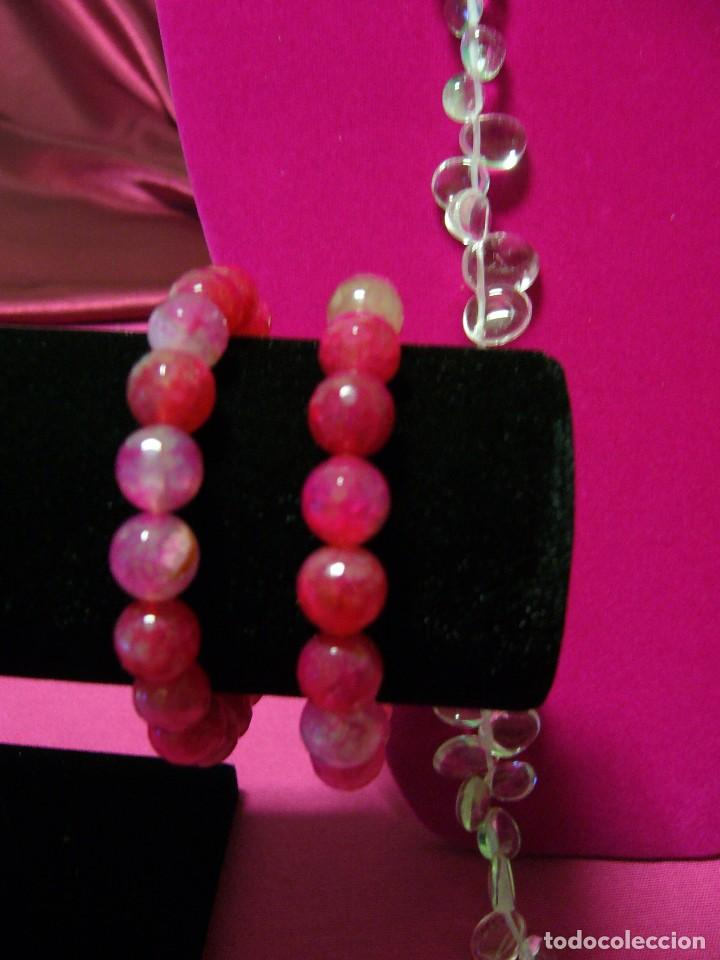 Pulsera 2 Pulseras Lote De Agata Color Rosa Fra Comprar Bisuteria
