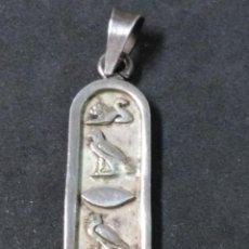 Joyeria: COLGANTE DE PLATA EGIPCIO. Lote 120435199