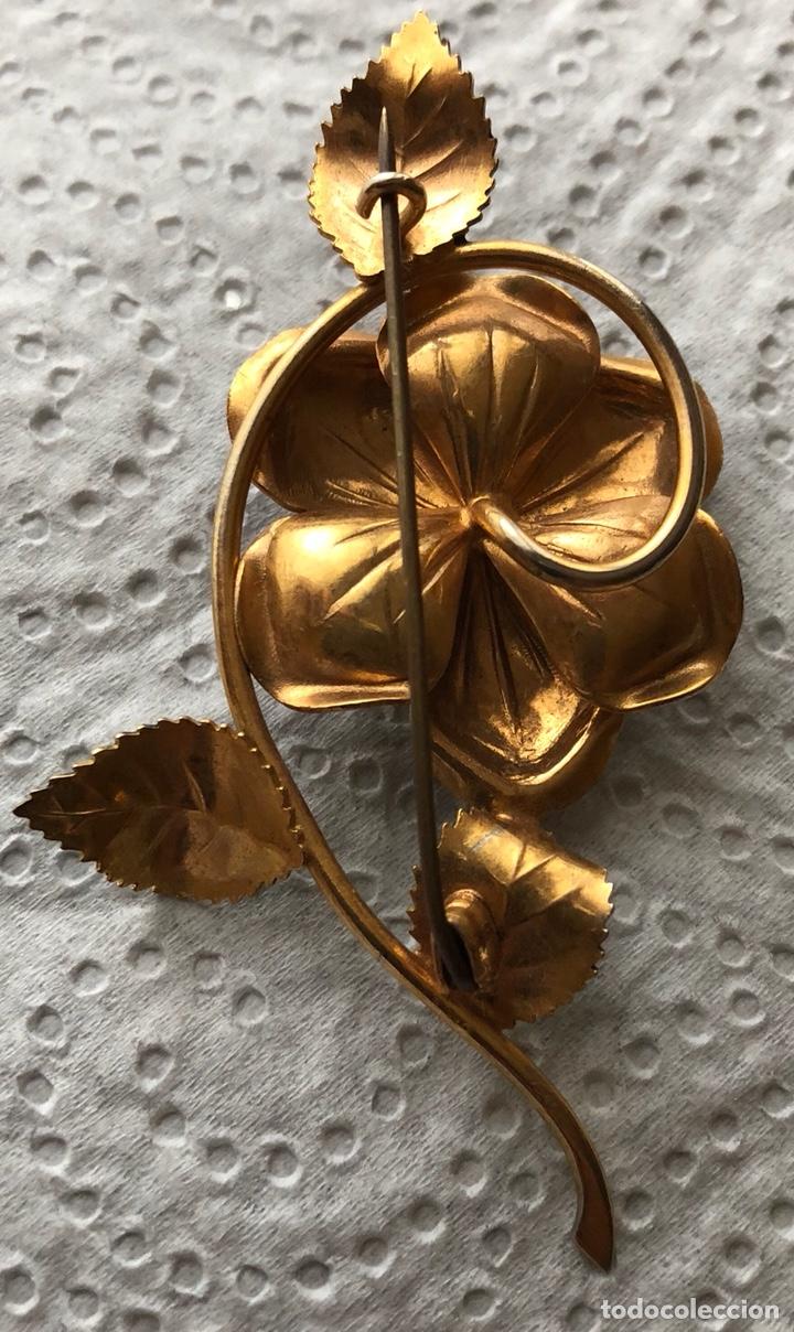 Joyeria: Bonito broche de metal dorado en forma de flor - Foto 3 - 122215171