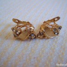 Schmuck - Vintage. Bonitos pendientes de señora. Chapados en oro. Años 80. Nuevos. ENVIO GRATIS. - 125842679