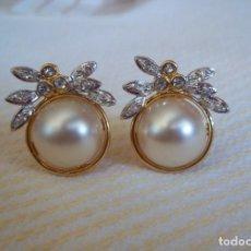 Schmuck - Vintage. Bonitos pendientes de señora. Chapados en oro. Años 80. Nuevos. ENVIO GRATIS. - 125850487