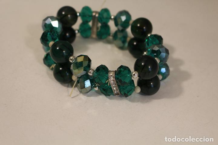 Joyeria: pulsera de piedras naturales y cristales azules - Foto 2 - 126428675