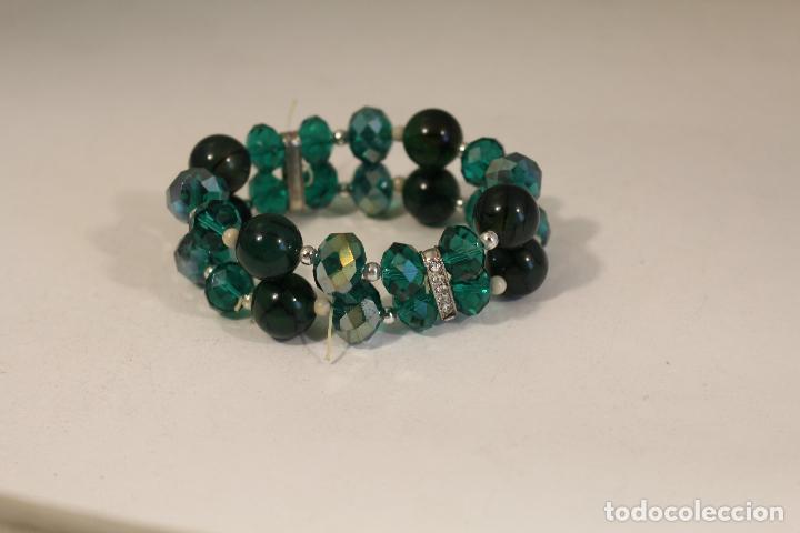 Joyeria: pulsera de piedras naturales y cristales azules - Foto 3 - 126428675