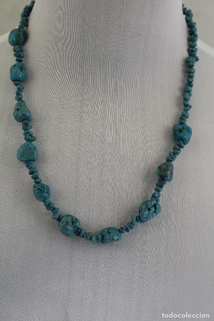 4a21f62d220f collar turquesa en bruto - Comprar Bisuteria en todocoleccion ...