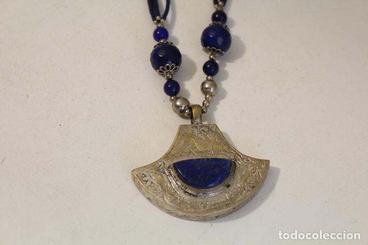 Joyeria: collar colgante etnico con piedras naturales lapislazuli - Foto 4 - 127270931