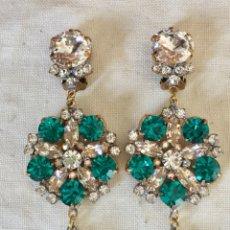 Schmuck - Pendientes vintage cristales verdes - 127443527