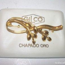 Joyeria: BONITO BROCHE CHAPADO EN ORO.. Lote 127929359
