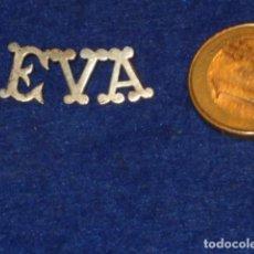 Joyeria: COLGANTE DE LETRAS CON NOMBRE EVA.PLATA.. Lote 128162111