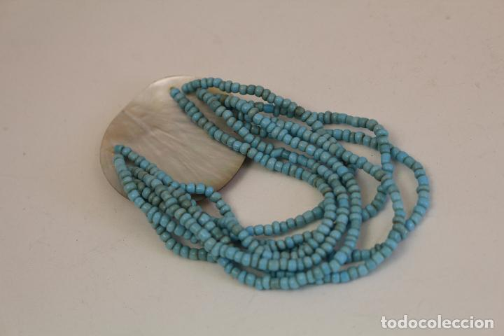 Joyeria: pulsera azul y nacar NATURAL - Foto 3 - 128838395