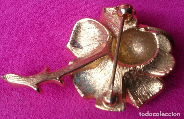 Joyeria: Broche dorado vintage forma rosa - Foto 2 - 129603323