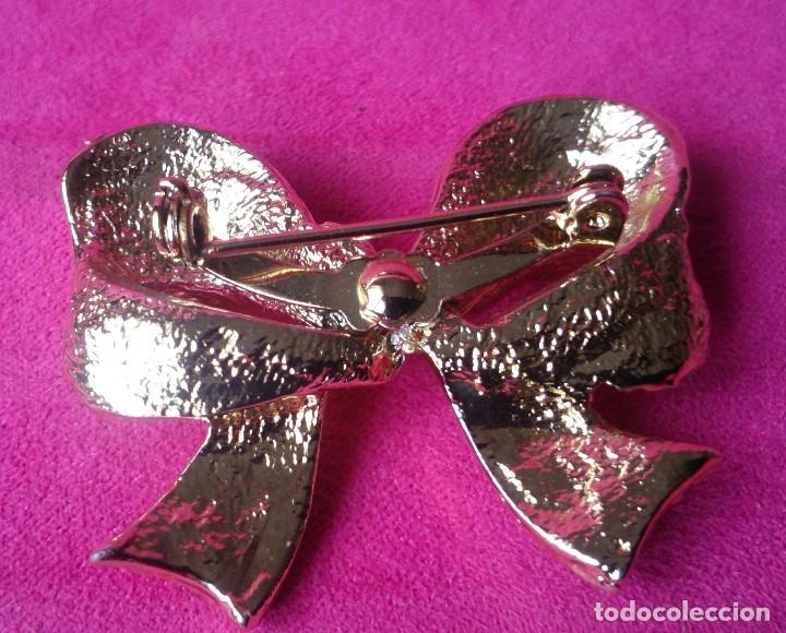 Joyeria: Broche dorado vintage forma lazo - Foto 2 - 129603495
