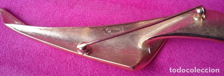 Joyeria: Broche dorado vintage forma hoja marcado - Foto 3 - 129604119