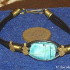 Joyeria: PULSERA CON ESCARABAJO EGIPCIO.. Lote 130119047