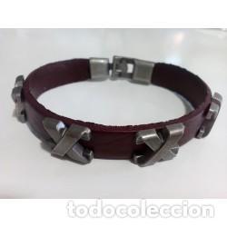 55ab02e3977e pulsera cuero hombre x - Comprar Bisuteria en todocoleccion - 137145518