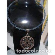 Joyeria: COLLAR GARGANTILLA VAQUERA COLGANTE DE PROTECCIÓN PENTAGRAMA. Lote 133441386