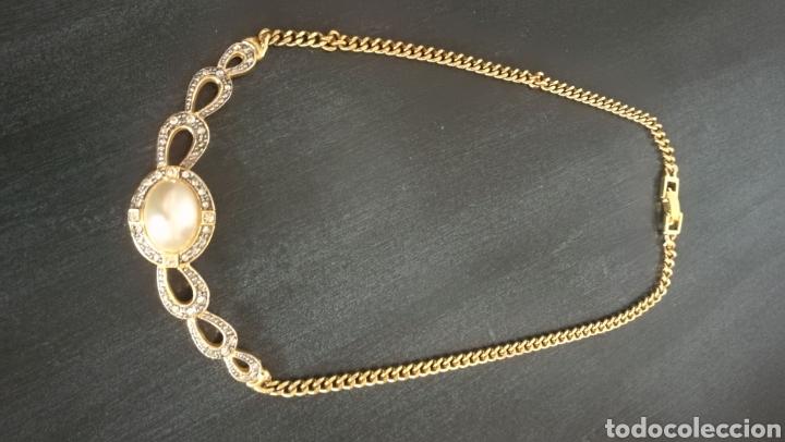Joyeria: Collar vintage dorado colgante bisutería piedras - Foto 2 - 133544934