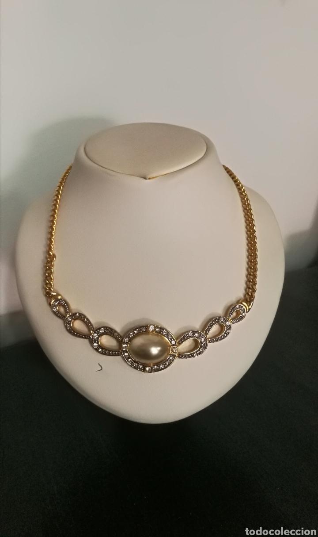Joyeria: Collar vintage dorado colgante bisutería piedras - Foto 4 - 133544934