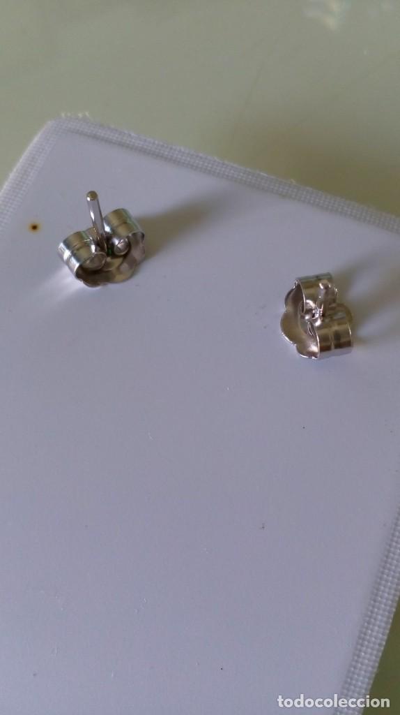 Joyeria: Pendientes de plata y símil esmeralda - Foto 2 - 133778330