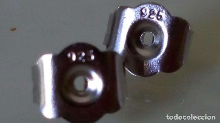 Joyeria: Pendientes de plata y símil esmeralda - Foto 3 - 133778330