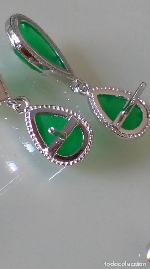 Joyeria: Pendientes de plata y símil esmeralda - Foto 4 - 133778330