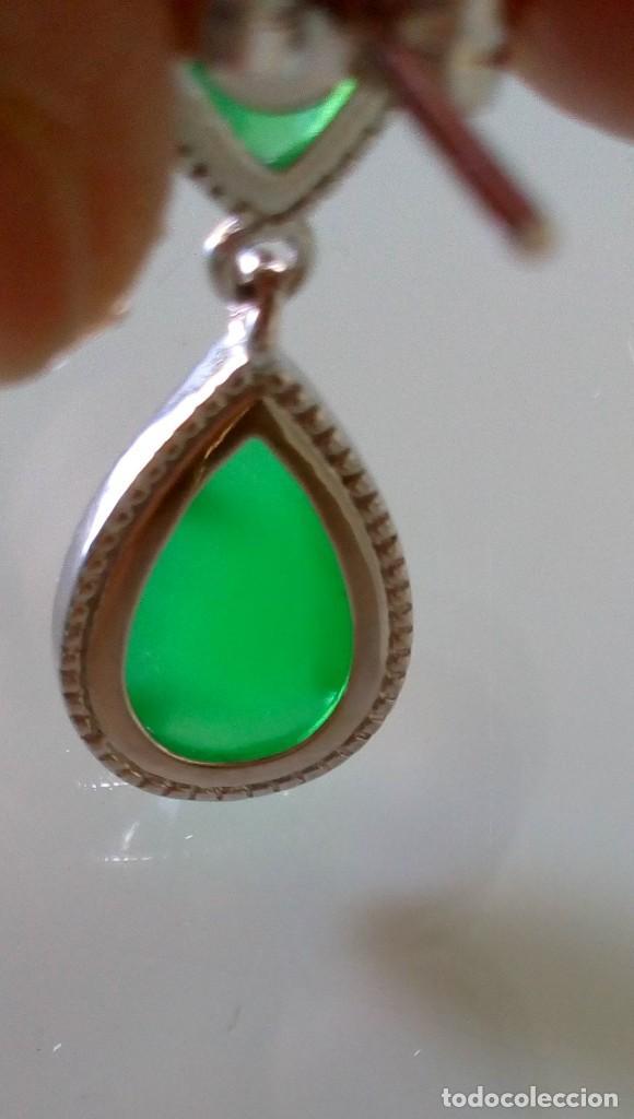 Joyeria: Pendientes de plata y símil esmeralda - Foto 9 - 133778330
