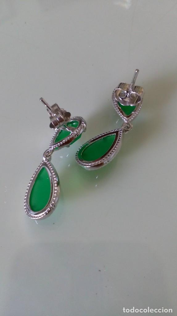 Joyeria: Pendientes de plata y símil esmeralda - Foto 10 - 133778330