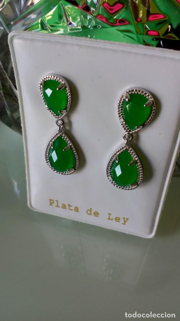 Joyeria: Pendientes de plata y símil esmeralda - Foto 11 - 133778330