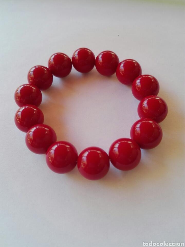7179a58e918c pulsera cuentas rojas - Comprar Bisuteria en todocoleccion - 134083483