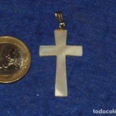 Joyeria: ANTIGUA CRUZ DE NACAR,COLGANTE PARA CADENA.. Lote 134316558