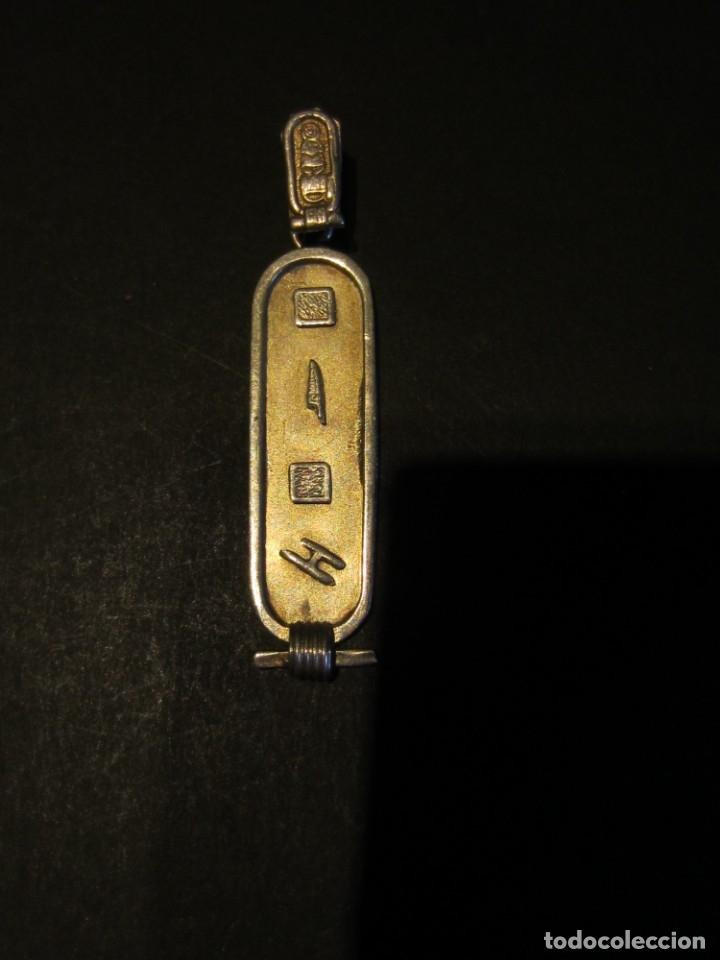 Joyeria: Cartucho jeroglifico egipcio. Colgante de plata . Contraste. - Foto 3 - 135602958