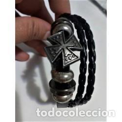 Joyeria: Pulsera Cuero Hombre Cruz - Foto 4 - 137150090