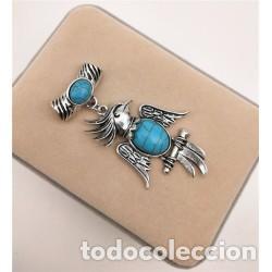 Joyeria: Collar Cordón Colgante Ave Piedra Natural Turquesa - Foto 2 - 137485118