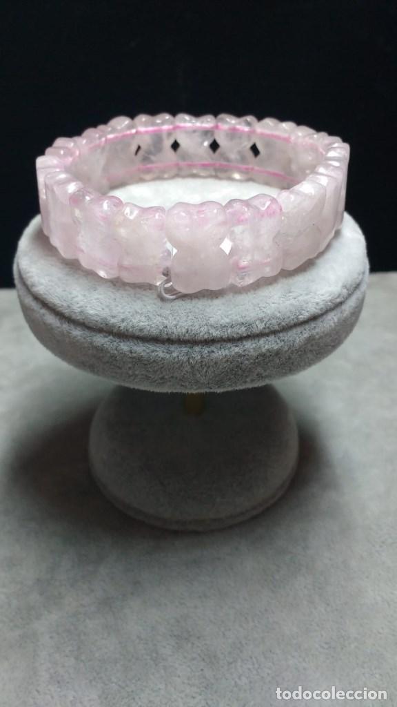 f99dae5355ee pulsera de cuarzo rosa. - Comprar Bisuteria en todocoleccion - 138059886