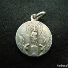 Joyeria: ANTIGUA MEDALLA RELIGIOSA DE PLATA DE LEY 900 PESO 2,23 G LARGO 2,4 CM. Lote 138071962