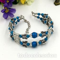 41d2de95ebbd Pulsera plata tibetana bolas azules - Vendido en Venta Directa ...