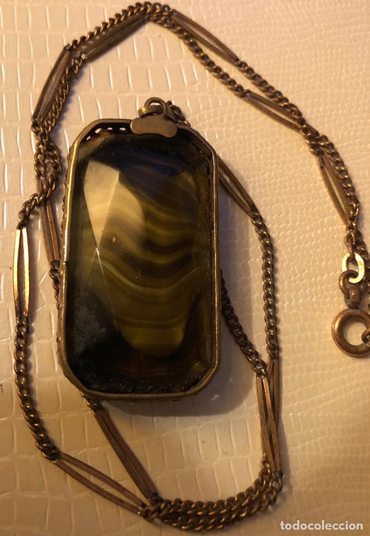 Joyeria: Precioso colgante con cadena a juego, con centro de piedra mineral - Foto 2 - 140605397