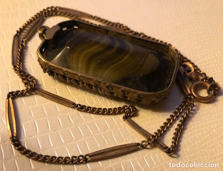 Joyeria: Precioso colgante con cadena a juego, con centro de piedra mineral - Foto 3 - 140605397