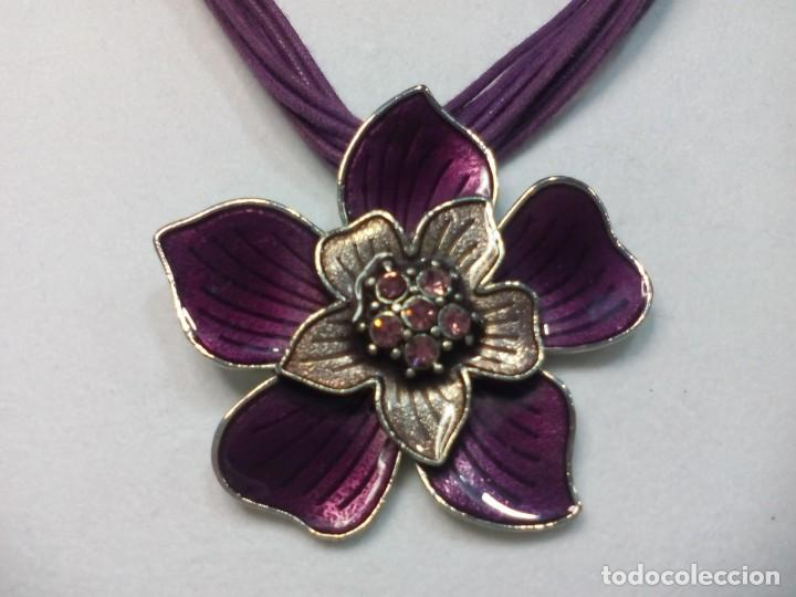 bfb7a17d8d18 collar flor violeta - Buy Fashion Jewelry at todocoleccion - 141472618