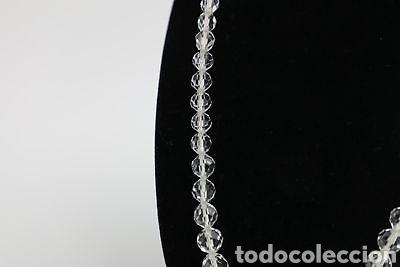 Joyeria: Precioso collar antiguo de cristal checo facetado - Foto 2 - 141961473