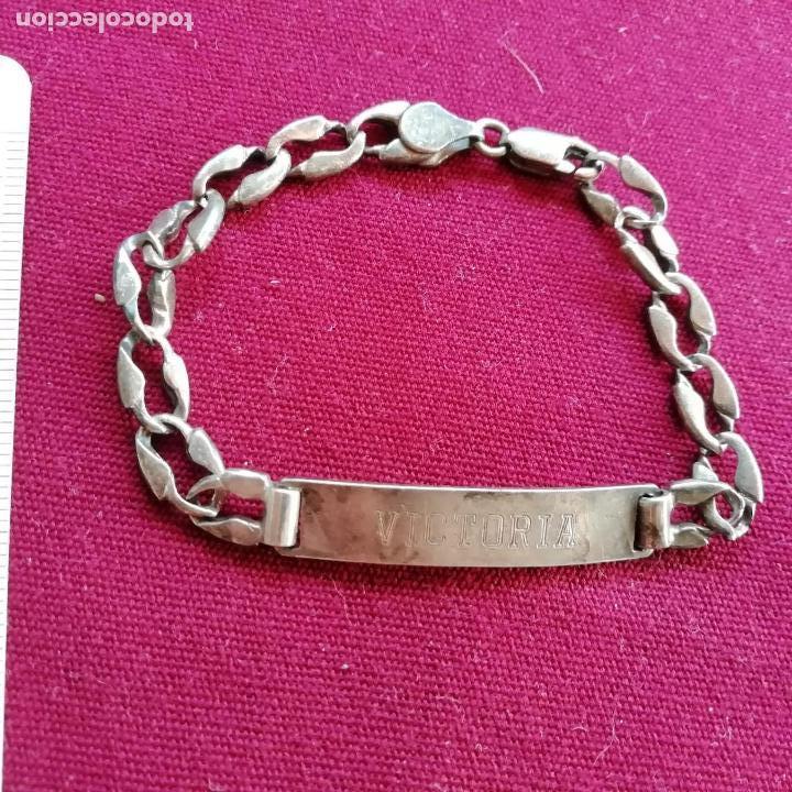 2e11daceab99 pulsera de plata. grabado nombre victoria - Comprar Bisuteria en ...