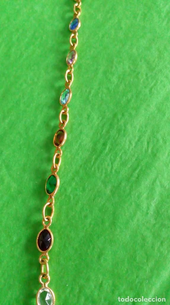 Joyeria: Collar dorado con cristales de colores - Foto 4 - 142830702