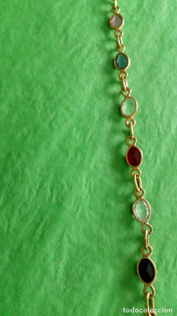 Joyeria: Collar dorado con cristales de colores - Foto 5 - 142830702