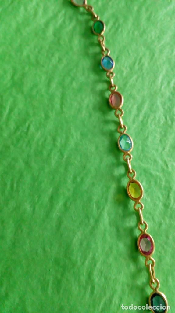 Joyeria: Collar dorado con cristales de colores - Foto 6 - 142830702