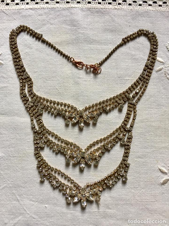 Joyeria: Gargantilla vintage de cristal de strass - Foto 4 - 142831530