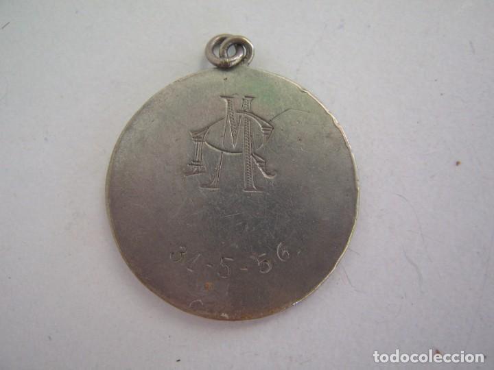 Joyeria: ANTIGUA MEDALLA DE PLATA DE LA VIRGEN NIÑA FECHADA 31 5 56 - Foto 2 - 142904678